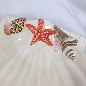 Ambiance Collection Dining - Large Shell Serving Dish With Starfish Sauce Bowl